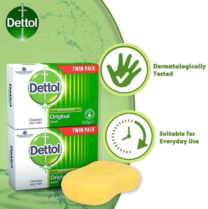 Dettol Anti-Bacterial Soap Original 100g - TWIN PACK - £1