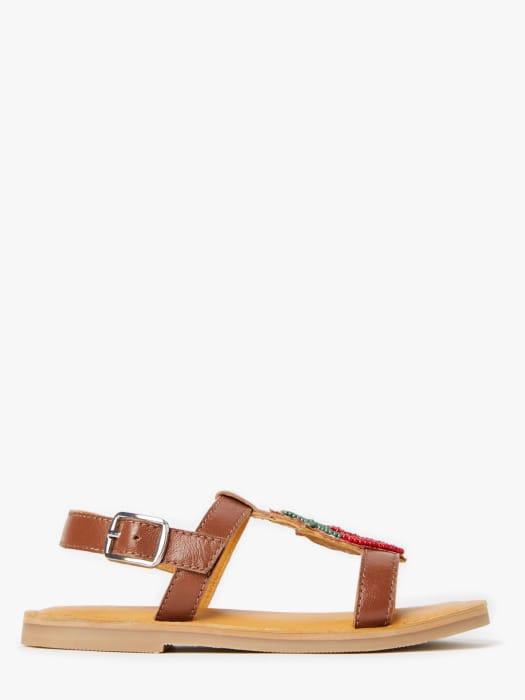 John Lewis & Partners Children's Strawberry Embellishment Sandals £7.20