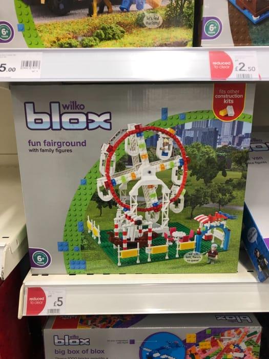 Wilko Blox Fairground Large Set - 1/2 Price Now £5