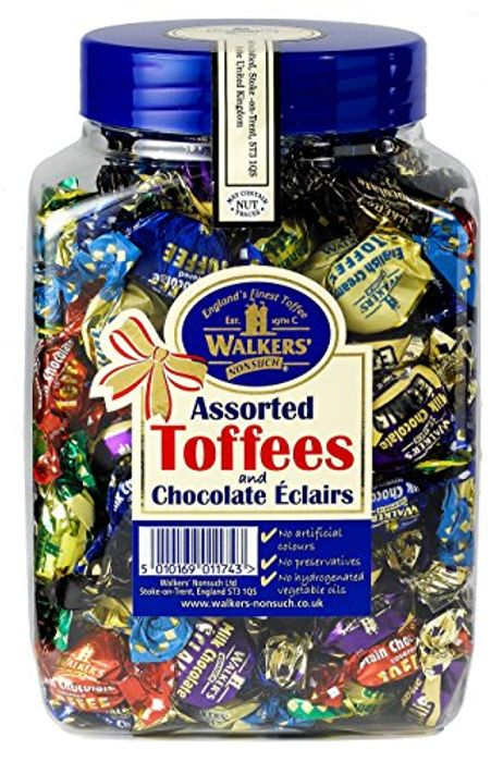 Walkers Assorted Toffees and Chocolate Eclairs Jars 1.25 Kg