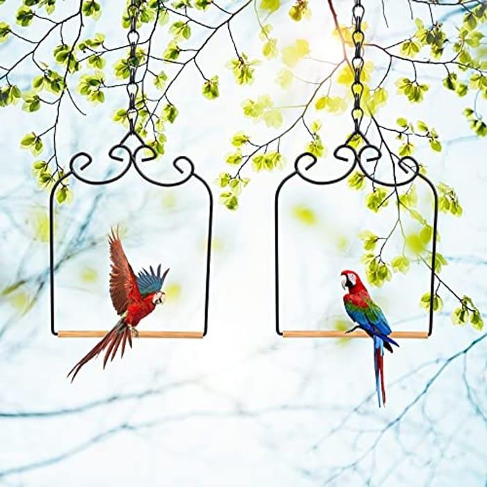 2 Pack Hummingbird Swing Metal Frame with Wooden Dowel