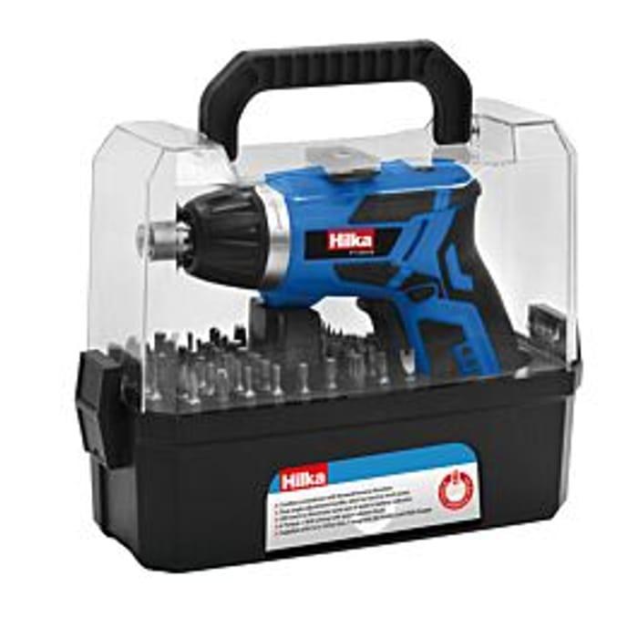 *SAVE £24* Hilka 3.6V Li-Ion Cordless Screwdriver Kit