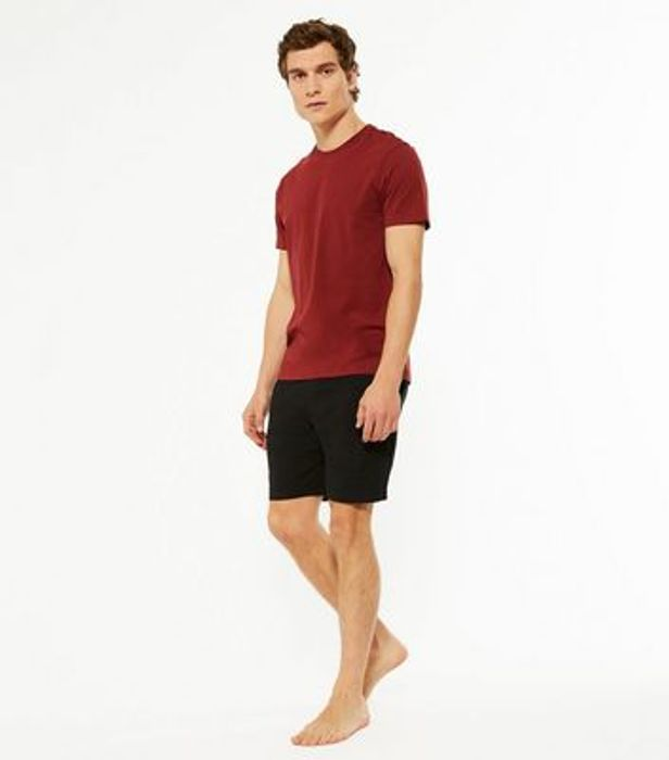 2 Pack Burgundy and Black Shorts