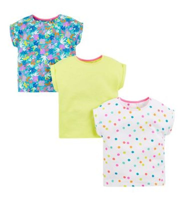 Cheap Mini Club Three Pack Short Sleeve Tops (9-12m & 2-3yrs) - Save £5!