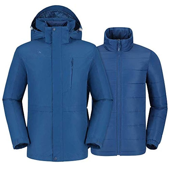 Best Ever Price! Men's 3 in 1 Waterproof Ski Jacket with Detachable Liner