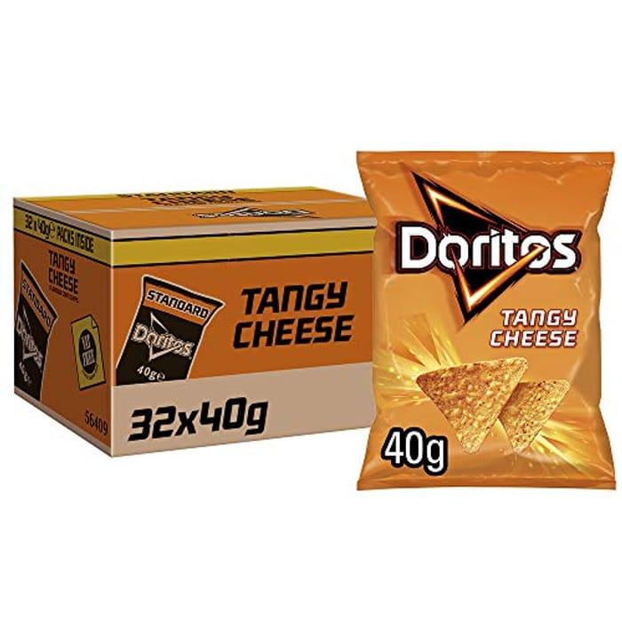 Doritos Tangy Cheese Tortilla Chips, 40 G (Case of 32 Packs) - 10% Voucher