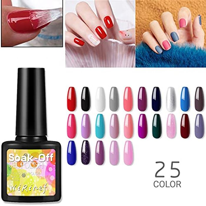 Best Price! 25 Color Diy Solid Color Nail Art Nail Polish Phototherapy Glue