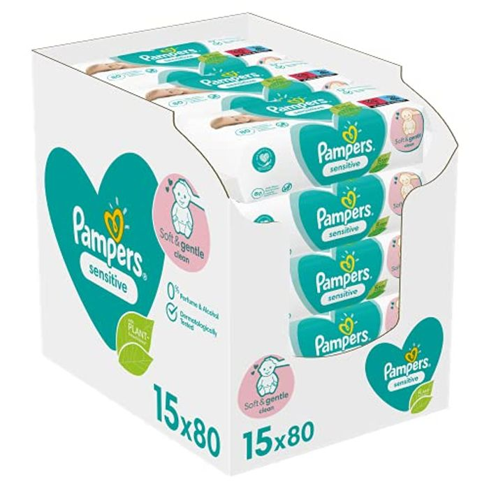 CHEAP! 1200 Pampers Sensitive Wet Wipes (+ Even More off with S&S)