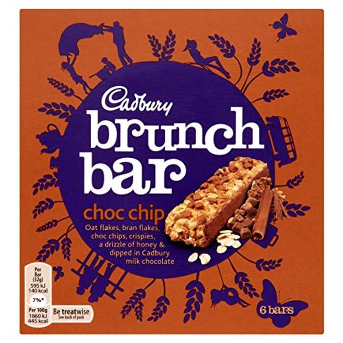 Cadbury Brunch Bar Choc Chip, 6 X 32g