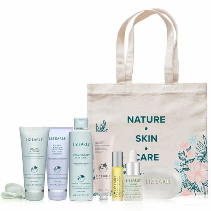 Liz Earle's Cleanse & Calm 7-Piece Collection + Free Tote Bag Only £55 Delivered