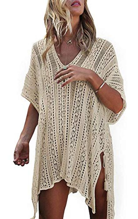 Short Sleeve Crochet Swimsuit Coverup (Various Colours)