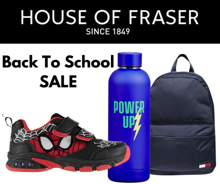 House of Fraser Back to School Sale - Prices From £1!