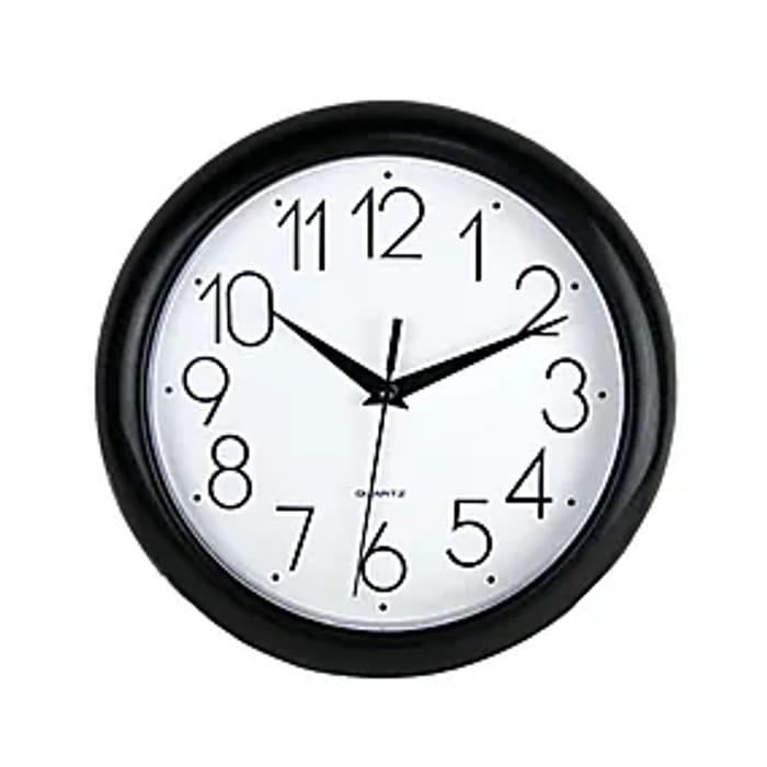 Simply Plastic 24cm Wall Clock Black