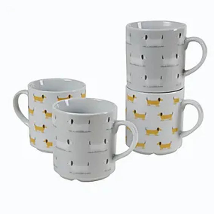 Bertie Sausage Dog Stacking Mugs Click & Collect after 3 Hours