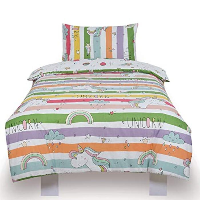 Todd Linens Unicorn Reversible Single Bedding Duvet Cover Set (Double or Single)