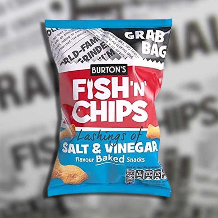 45x Burtons FishnChips Salt & Vinegar 40g Pack