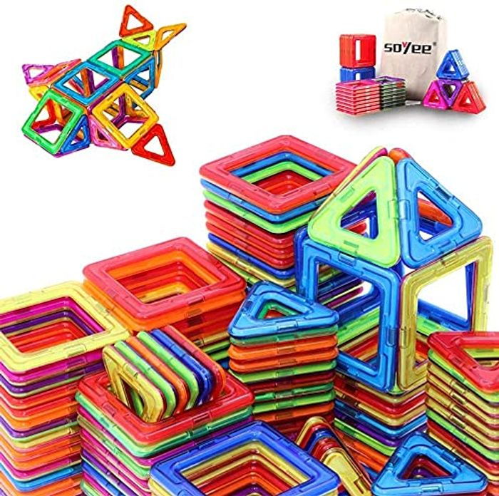 DEAL STACK - Magnetic Building Blocks Educational Toys + 30% Coupon