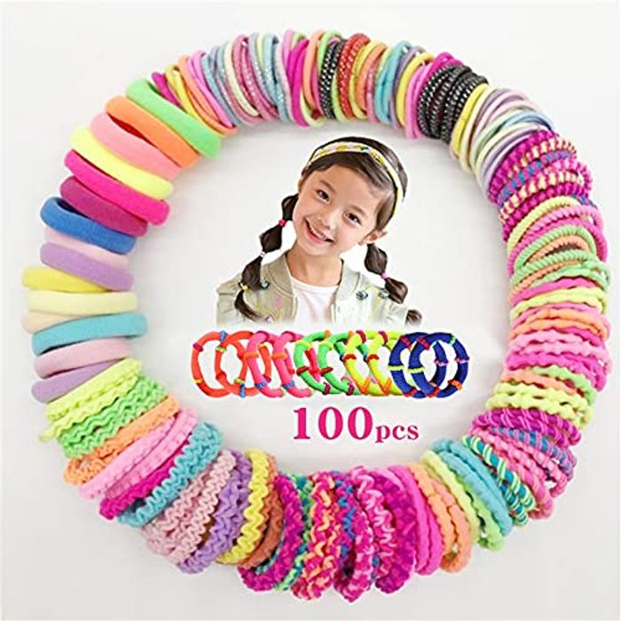 Special Offer! Candy Color Girls Hair Scrunchies (100Total in a Pack)