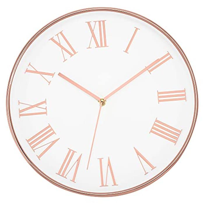 Foxtop Modern Wall Clock 30 Cm Silent Non-Ticking Quartz - Only £5.99!