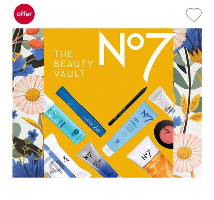 Back in Stock Limited Edition No7 Beauty Vault worth £119, Only £32 With Code
