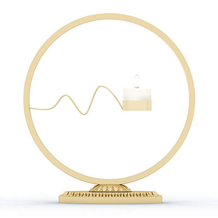 Geometric Candle Holder Golden Candlestick (50% Off)