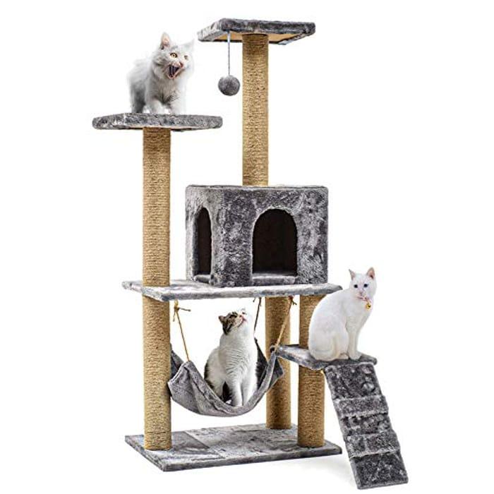 Arespark Cat Tree Tower Multi-Storey 140cm