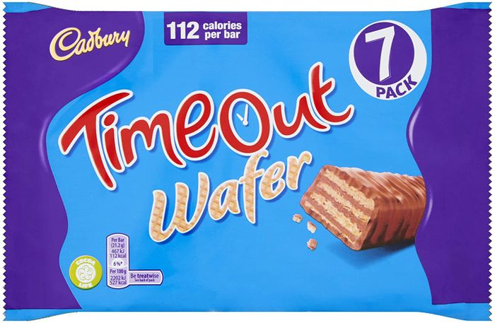 Cadbury Timeout Wafer Bars, Multipack of 7 X 21.2g