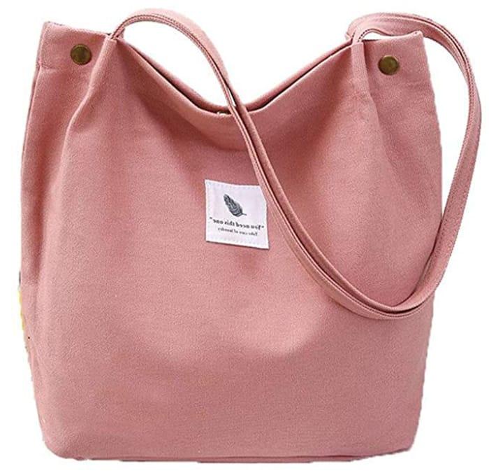 Women Canvas Shoulder Cross Body Casual Shopping Tote Handbag - Only £2.99!
