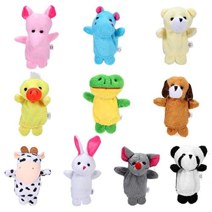 10pcs Animal Finger Puppets