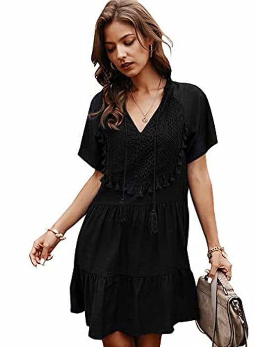 N\C Womens Summer Casual V Neck Dress