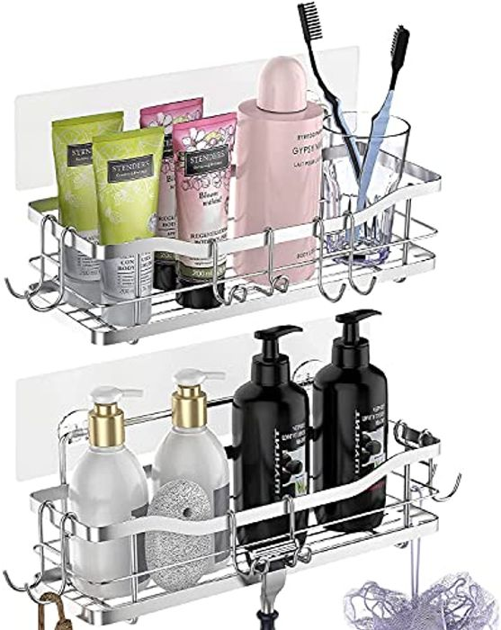DEAL STACK - Shower Caddy Shower Organiser Storage - 2 Pack + 10% Coupon