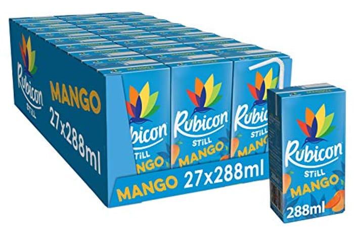 27 Pack of Rubicon Mango Juice Drink, 288 Ml
