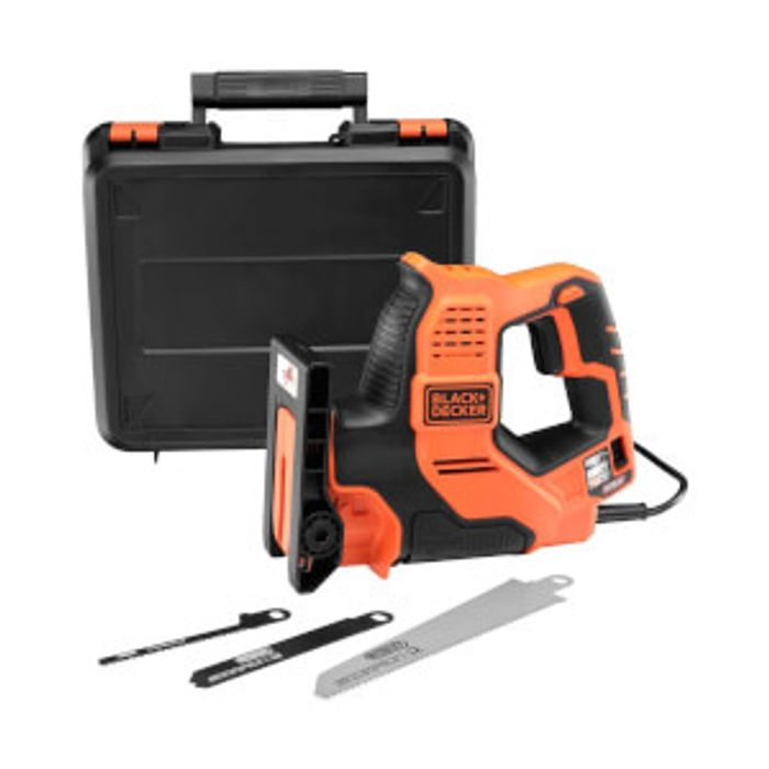 BLACK+DECKER Scorpion Auto-Select 500W Powered Hand Saw with Blades and Kit Box