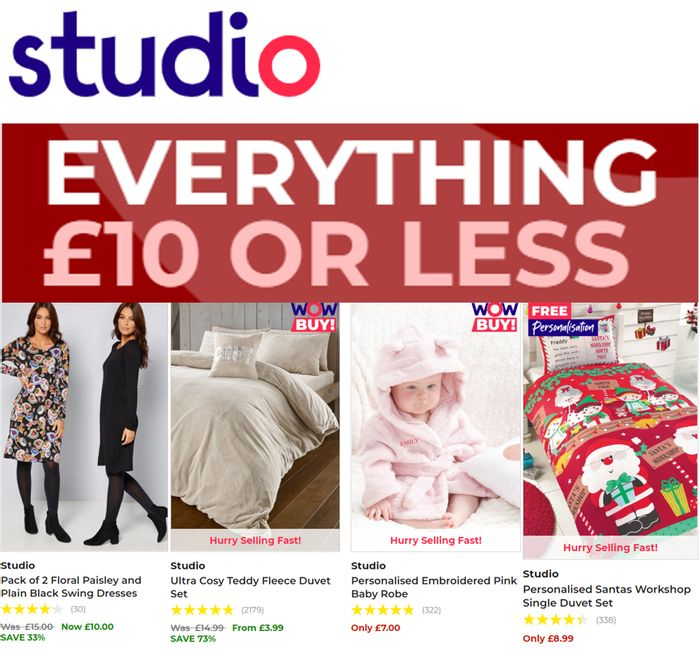 CHEAP! STUDIO - Everything £10 or Less!