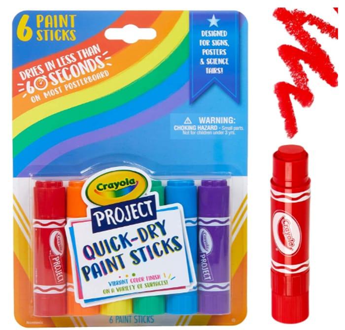 CHEAP! Crayola 6 Paint Sticks at Amazon