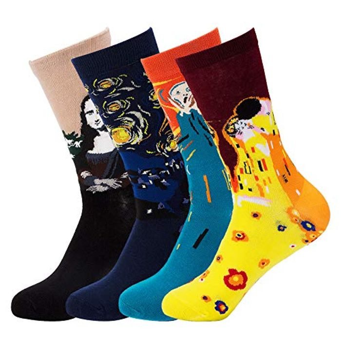 Richaa 4 Pairs Unisex Funny Sock - Only £7.88!