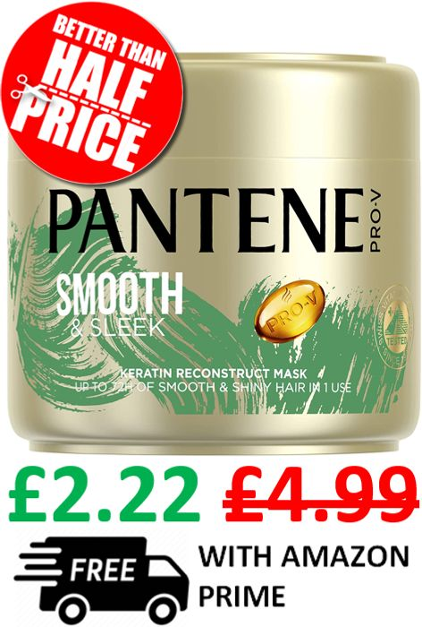 Pantene Pro-v Smooth & Sleek Hair Mask 300ml **4.7 STARS**