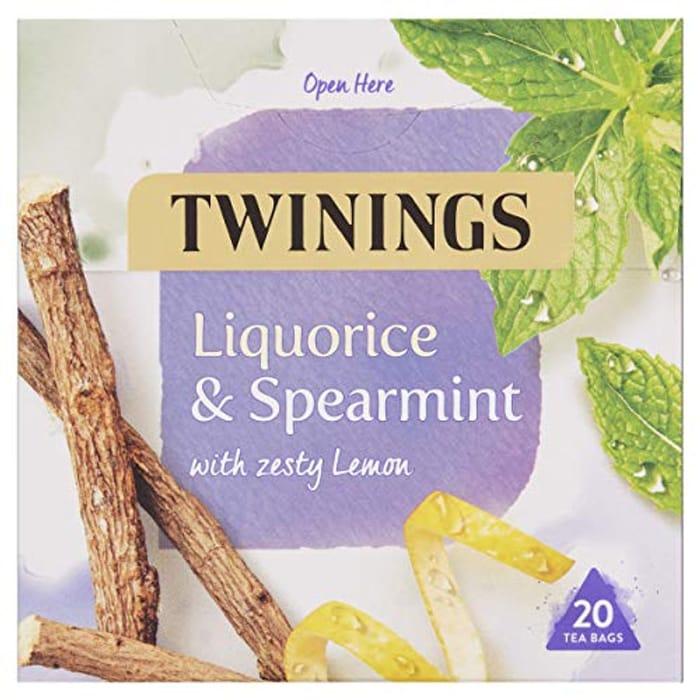 Twinings Liquorice and Spearmint Herbal Tea Bags, 20 Tea Bags
