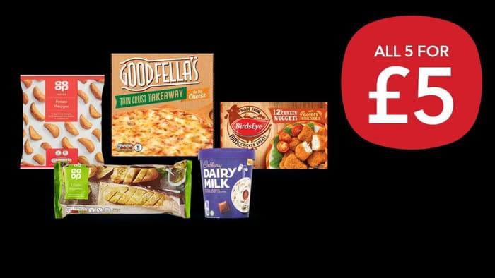 NEW - Co-Op £5 Freezer Filler Meal Deal - Save £6.15!