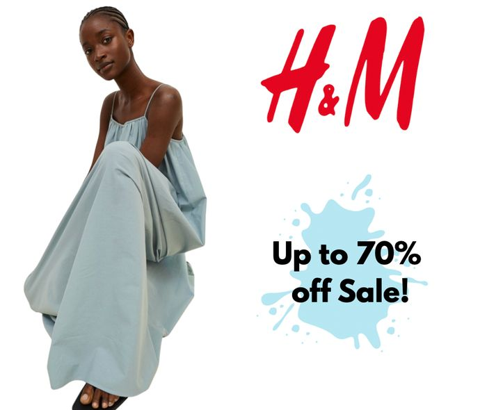 Up to 70% Off Sale at H&M Inc £8 T-Shirt, £7 Hoodie & £10 Jeans
