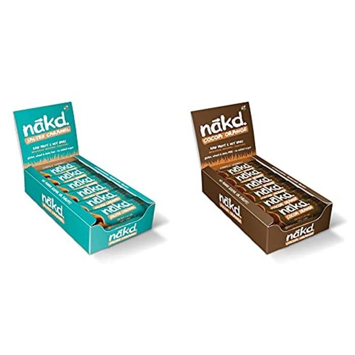 Nakd Salted Caramel + Cocoa Orange (36 Bars in Total)