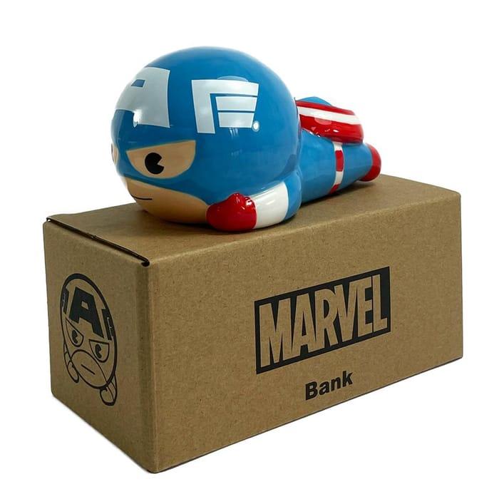 Marvel Kawaii Ceramic Money Bank - Captain America
