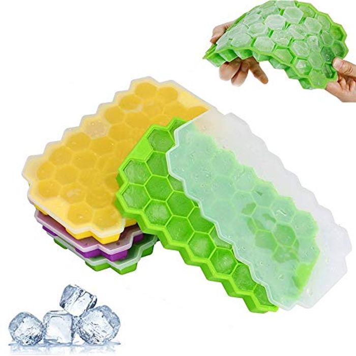 3 Pack Silicone Ice Cube Moulds with Removable Lids (Promo Code Q5ZMHFHQ)