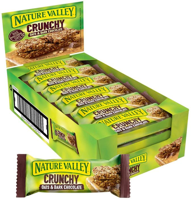 Nature Valley Crunchy Oats and Chocolate Cereal Bars 18 X 42g