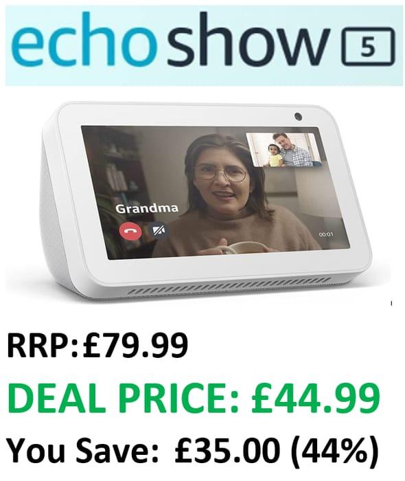 Best Price! Echo Show 5 - SAVE £35