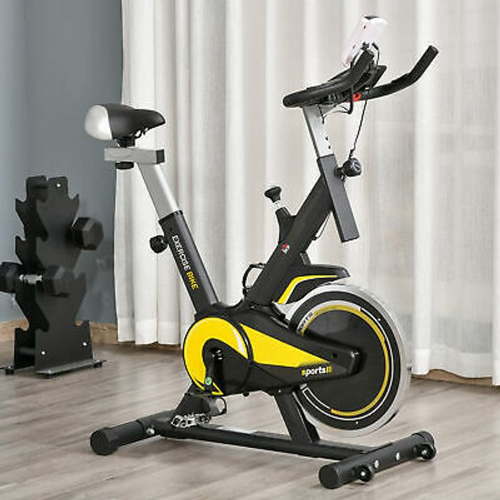 Exercise Bike Indoor Cycling Adjustable Resistance LCD Display - Only £73.94!