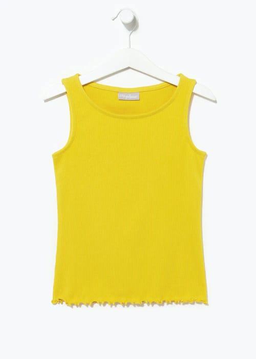 Girls Ribbed Vest Top (4-13yrs)