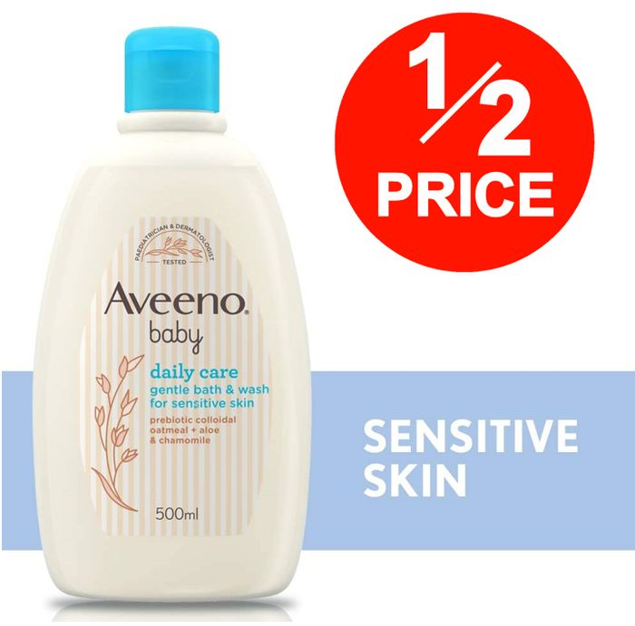 Aveeno BABY Daily Care Gentle Bath & Wash, 500ml (& More off with S&S)