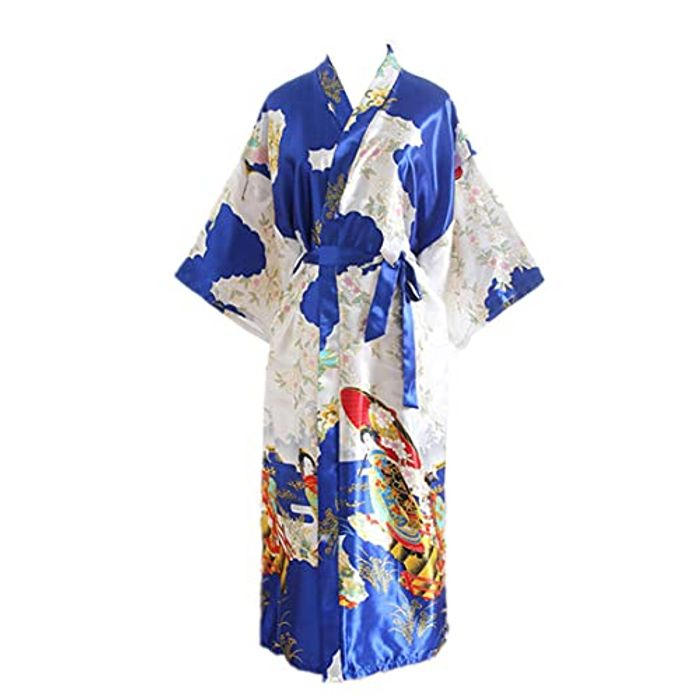 NPEEU Women's Bridesmaid Silk Dressing Gowns Nightwear with £10 off Coupon