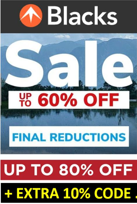 BLACKS SALE - FINAL REDUCTIONS + EXTRA 10% OFF CODE